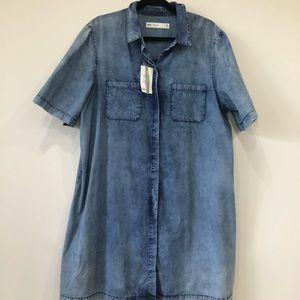 ASOS denim shirt dress